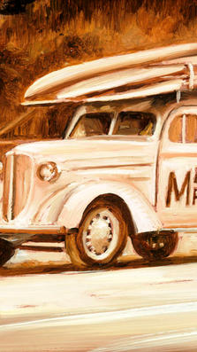 Malibu Maniacs - oil on popper