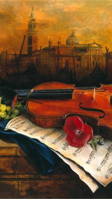 Autunno a Venezia 19' x 24' - oil on plaster