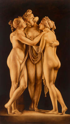 Le tre Grazie 56' x 36'  - oil on canva