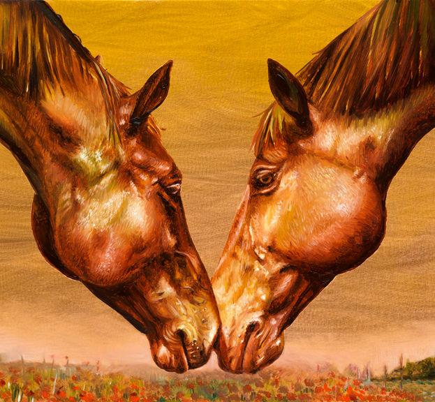 I Love You 8' x 10'  - oil on copper