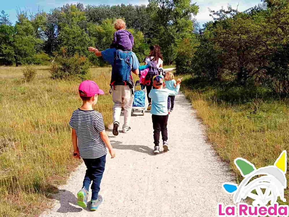 Niños de paseo grupo de infantes Viena