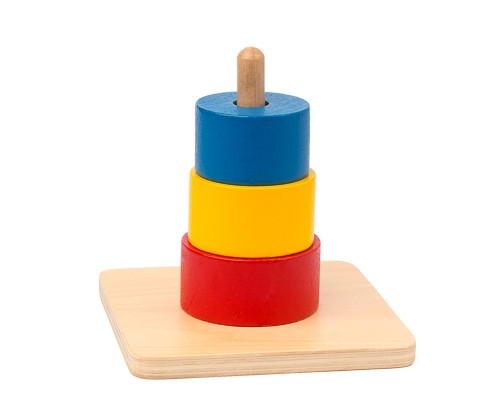 Torre de piezas encajables, material montessori para niños
