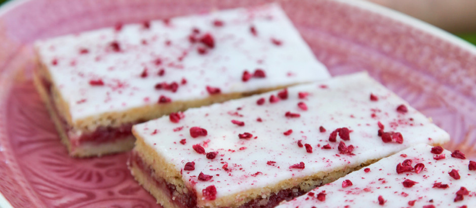 Glutenfri hindbærsnitter - ligesom man husker dem