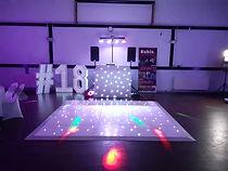 LED lights, numbers, floor