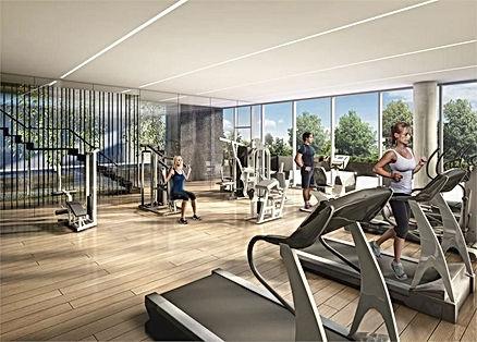 Projet virtuel d'aménagement de salle de sport en entreprise avec équipement sur-mesure