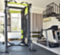 Home gym. Private gym at home, luxury, S