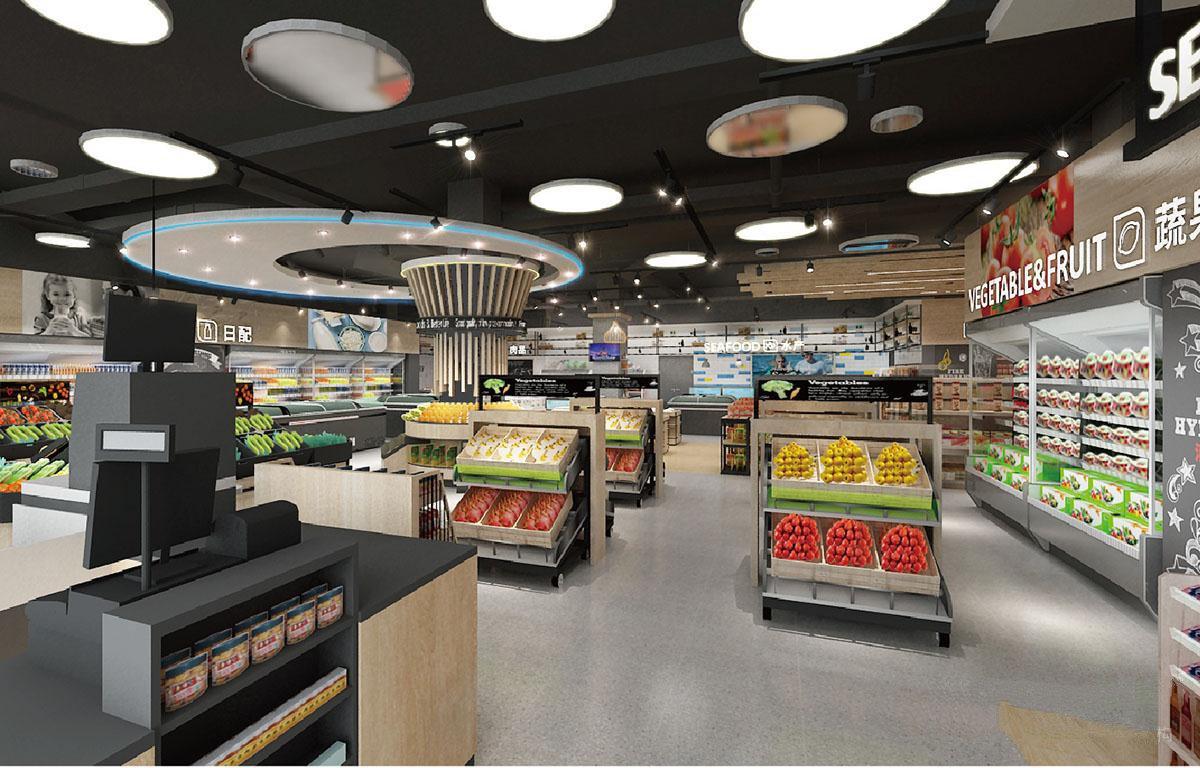 Supermarket Interior Design Solution