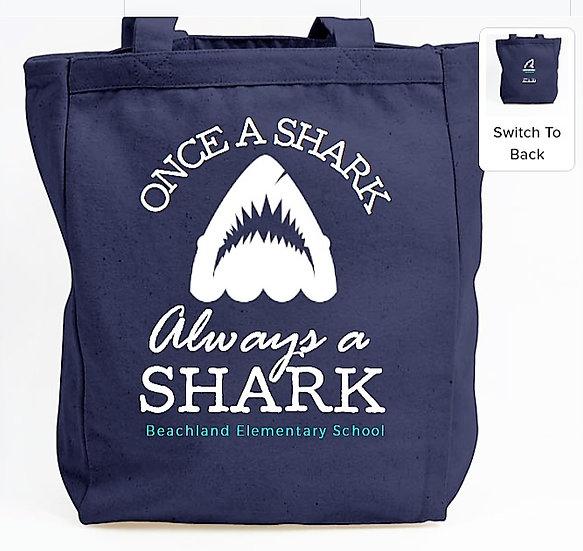 Beachland Shark Tote Bag - 100% Cotton Canvas