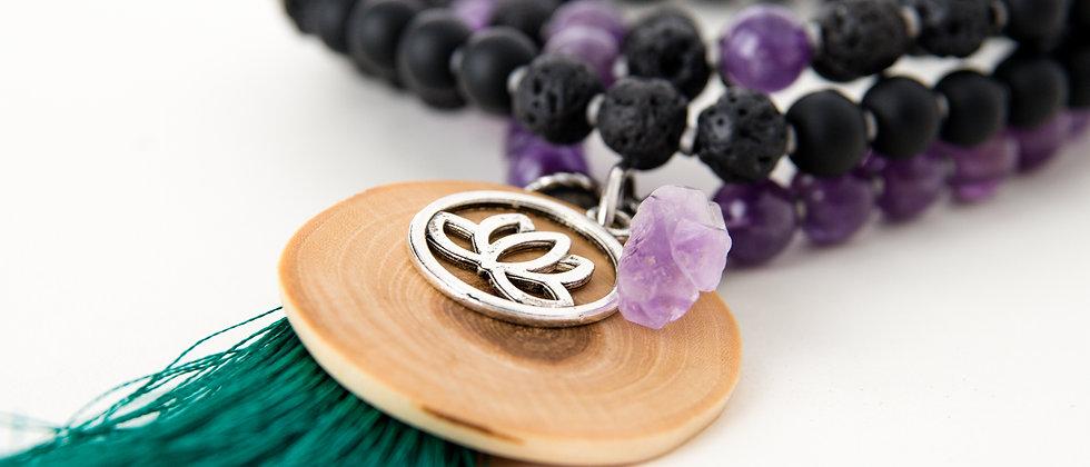 mala beads, yoga products, 108, semi-precious stones, mala beads made in Canada, Muskoka mala beads, meditation tools, yoga