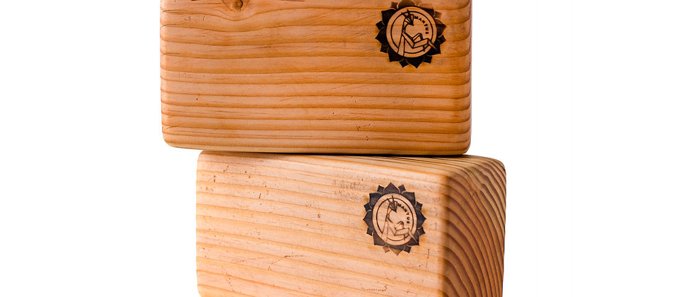 wooden yoga blocks, yoga products, yoga props, yoga block, salvaged wood, eco-friendly products, douglas fir yoga block