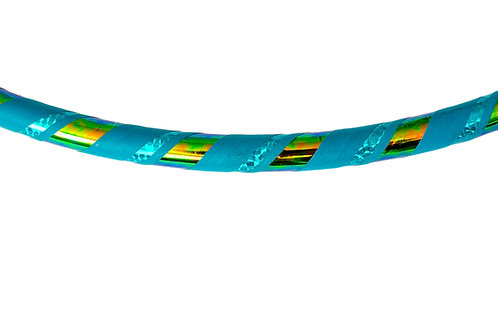 Hula hoop, collapsible hula hoop, travel hoop, hula hoop made in Canada, hula hooping in Muskoka, turquoise hula hoop