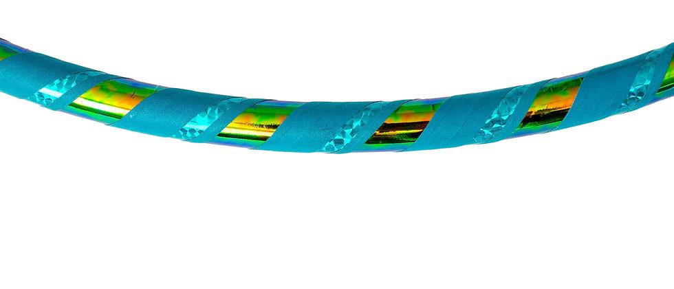 Hula hoop, collapsible hula hoop, travel hoop, hula hoop made in Canada, hula hooping in Muskoka, turquoise hula hoop