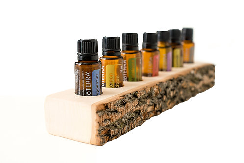 essential oil holders, live edge essential oil holders, eos, eo holder, doterra, yoga products, modern medicine cabinet