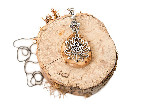 Spalted Maple, Yoga jewelry, yoga products, yoga lifestyle, hamsa, yoga charms, salvaged wood jewelry, Made in Muskoka,