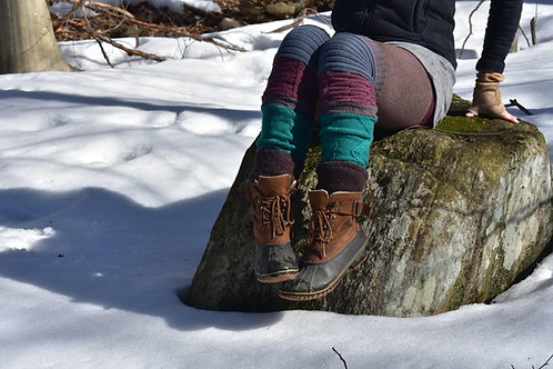 Tri-colour Leg Warmers