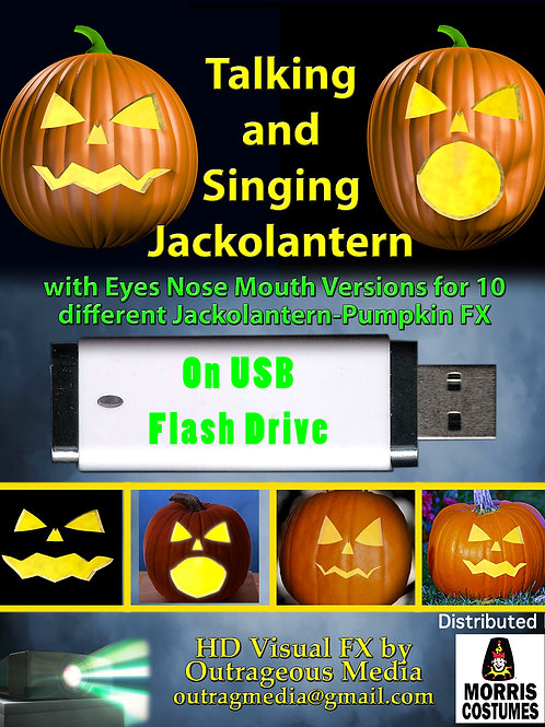 Singing and Talking Jackolantern on USB Flashdrive