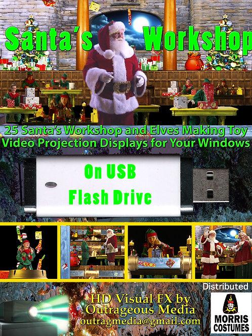Santa's Workshop on USB drive