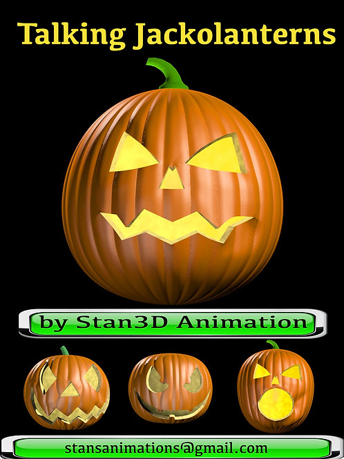 Singing and Talking Jackolantern on DVD