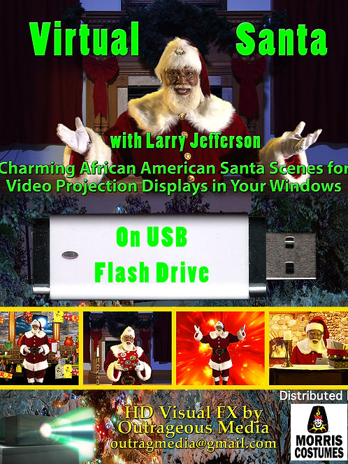 Black Santa Effect on USB Flashdrive