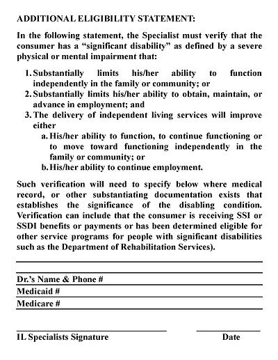 LIFE Eligibility Statement page 2 pdf