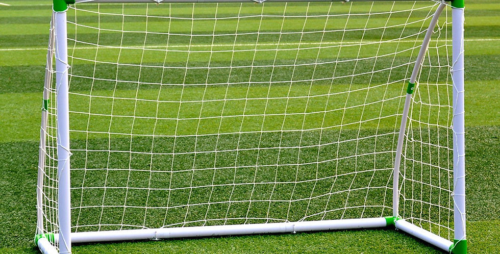 Soccer Goal Training Set with Net Buckles Ground Nail Football Sports