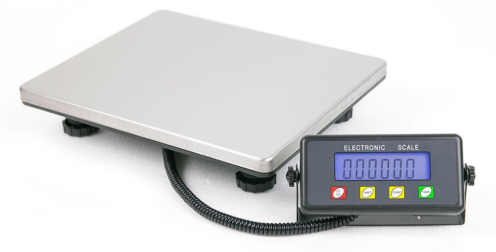 High Quality Digital Postal Scale Silver Without Adapter Black