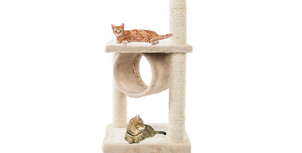 Solid Cute Sisal Rope Plush Cat Climb Tree Cat Tower Beige