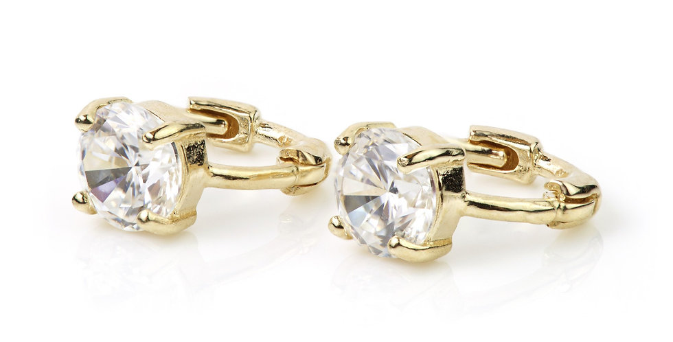 9ct Gold Crystal Claw Tiny Cartilage 5mm Huggie Earring