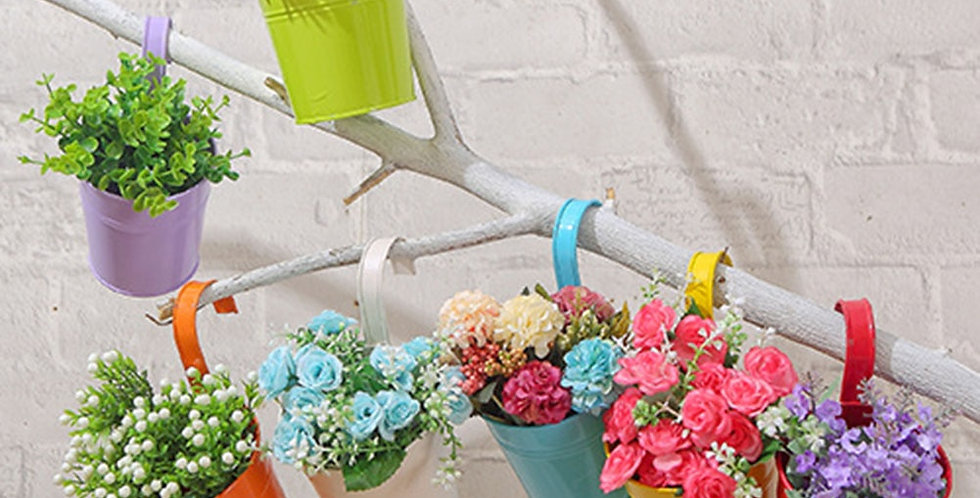 10pcs Metal Flower Pot