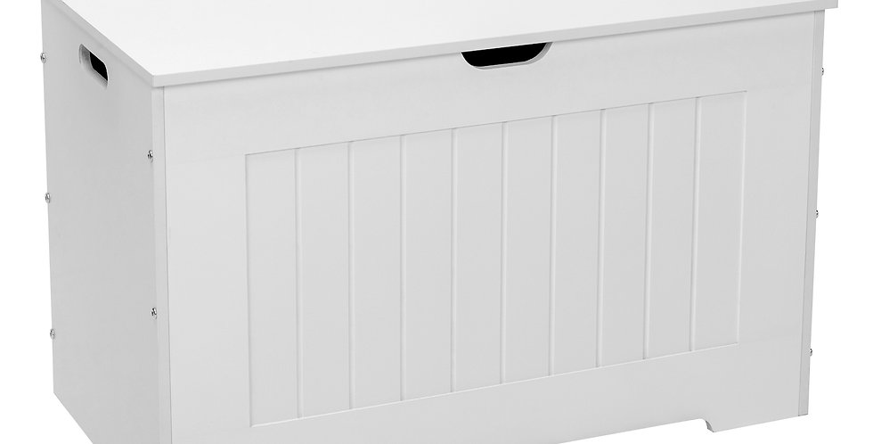 Storage Chest, Entryway Bench with 2 Safety Hinges, Wooden Toy Box