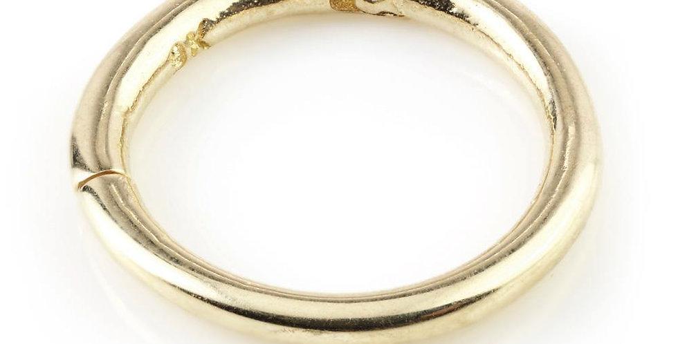 9ct Gold Plain Segment Hinge Ring (1.2mm)
