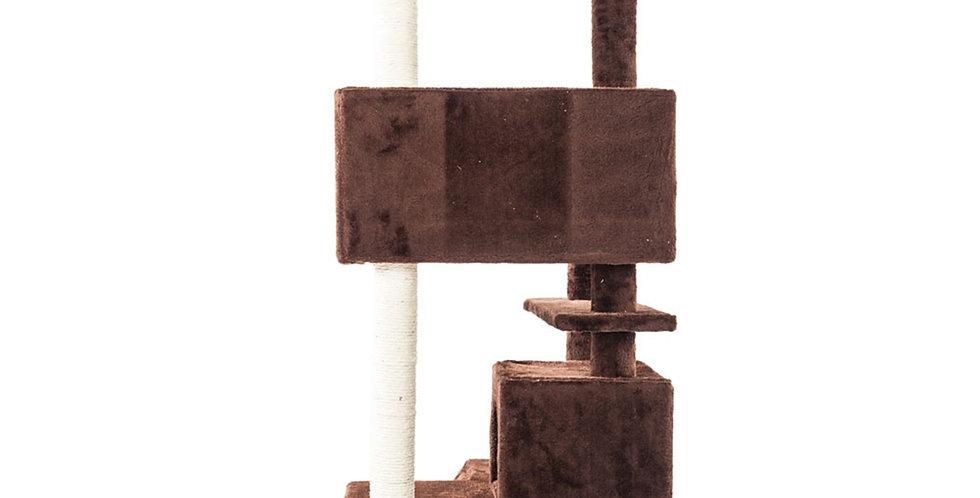 Solid Cute Sisal Rope Plush Cat Climb Tree Cat Tower Brown