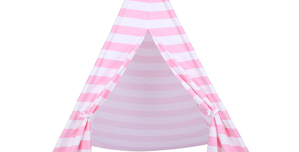 Indian Tent Children Teepee Tent Baby Indoor Dollhouse with Small Coloured Flags