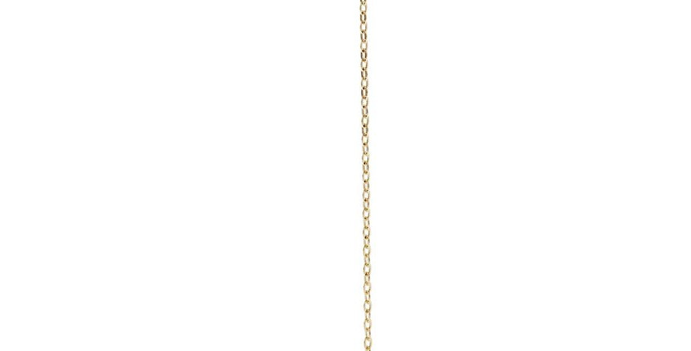 9ct Gold Chain With Gem Stud Earring