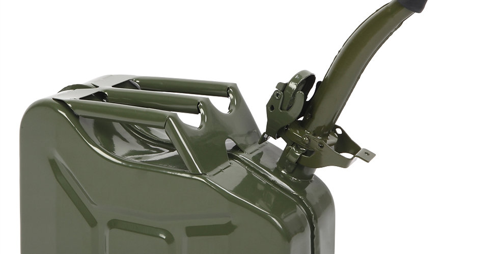 American Oil Barrel Army Green With Inverted Oil Pipe