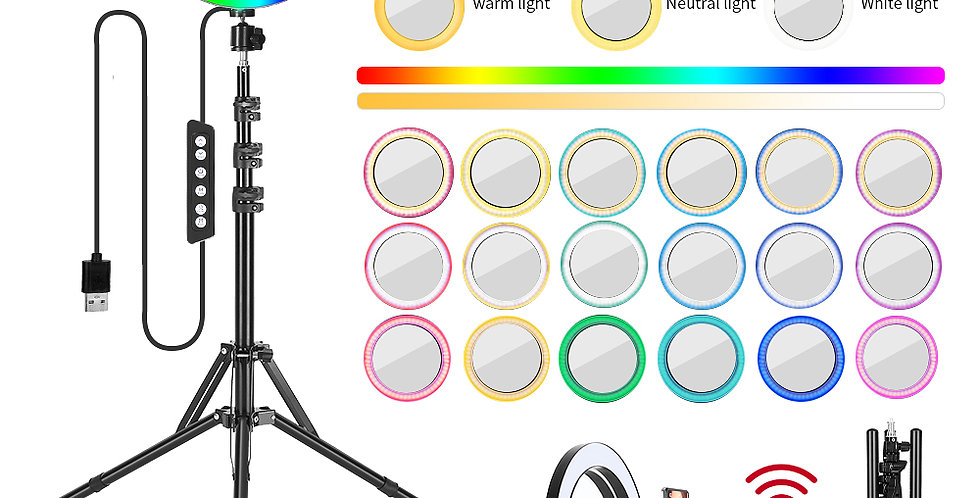 RGB With Beauty Mirror And Tripod Set