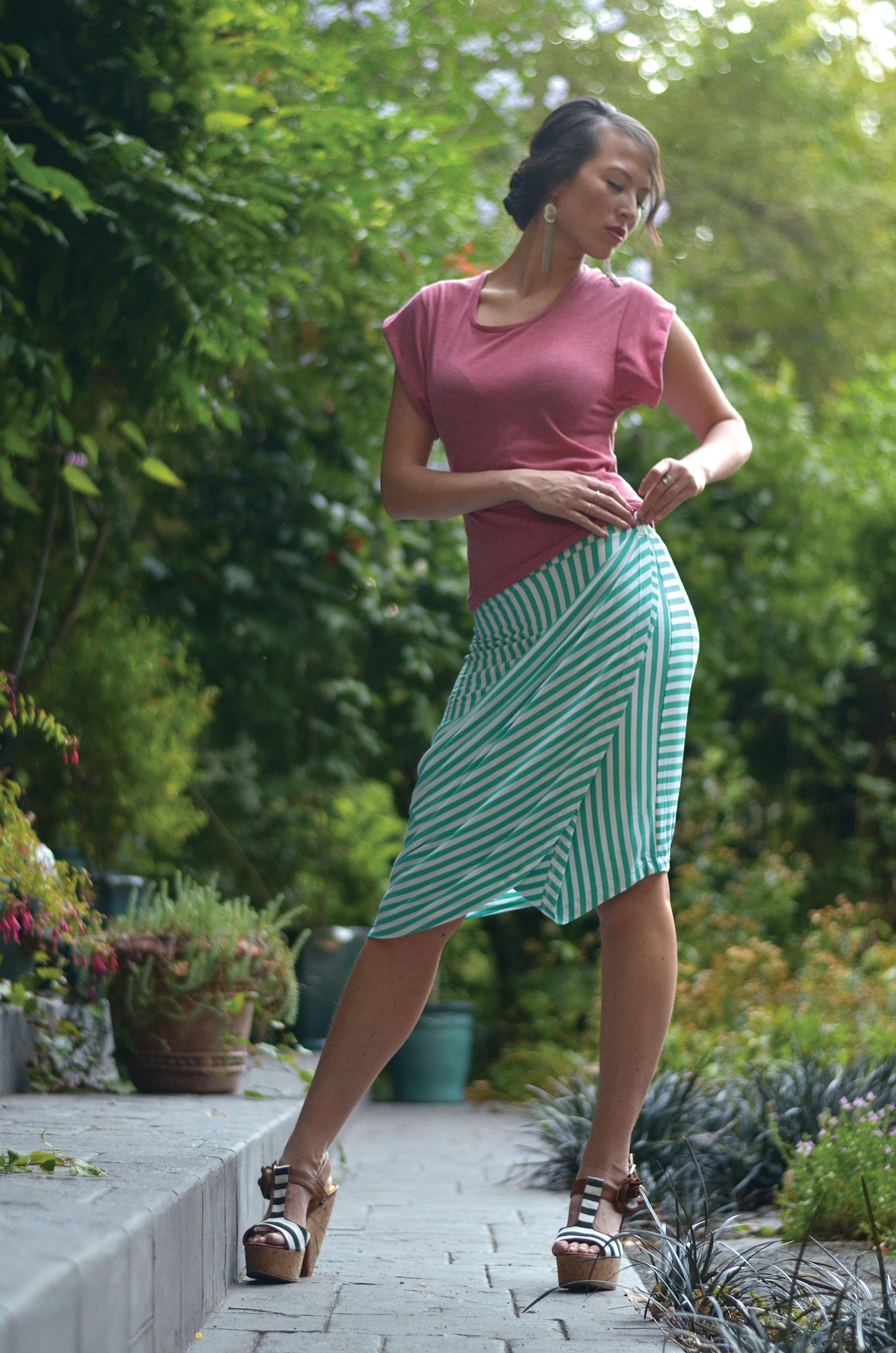 Scala wrap skirt and Ravello top