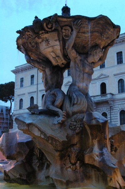 Roman fountain.