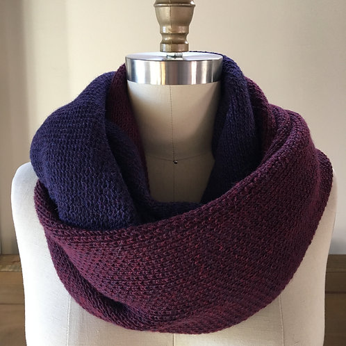 LUX Cowl in 100% fine baby llama - Pinot Noir & Red Berries