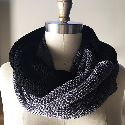 LUX Cowl in 100% Bamboo - Onyx & Iron