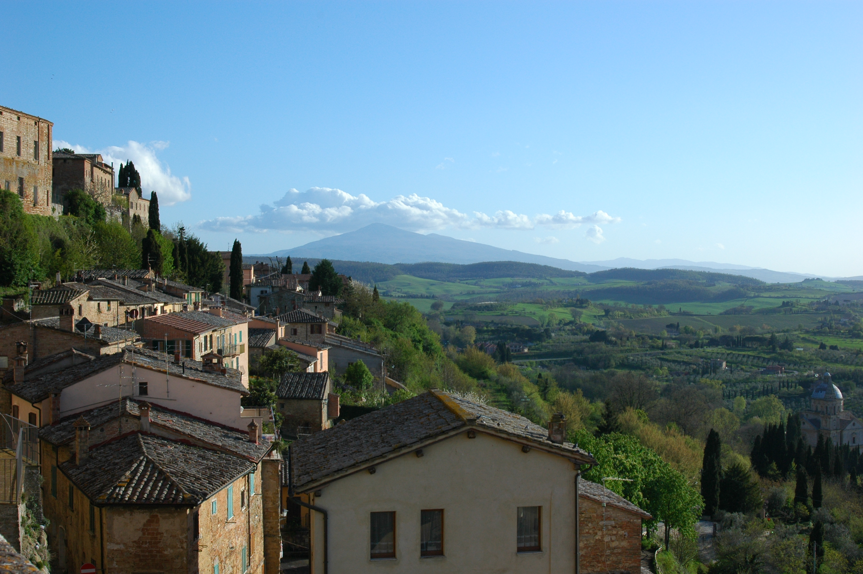 View from Montepulciano, Italy