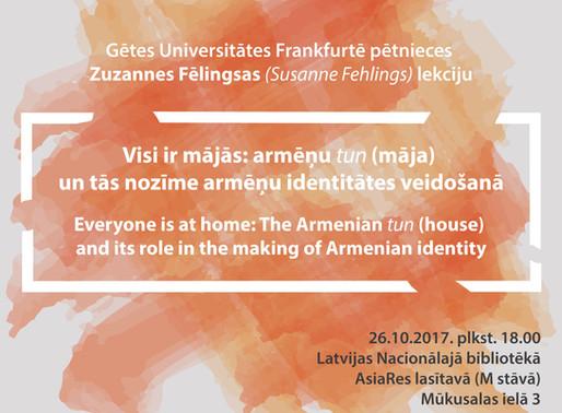 Zuzanne Fēlingsa: Māja un identitāte Armēnijā