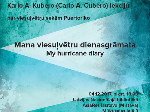 Karlo Kubero: Mana viesuļvētru dienasgrāmata