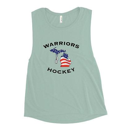 Michigan Warriors Hockey Ladies' Muscle Tank