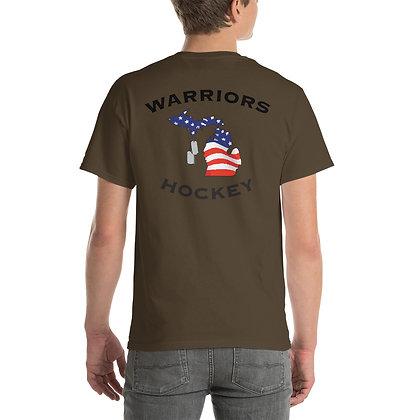 Michigan Warriors Hockey T-Shirt - Back Graphic