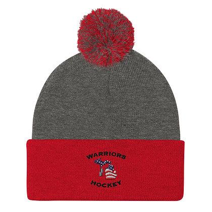 Michigan Warriors Hockey Pom-Pom Beanie