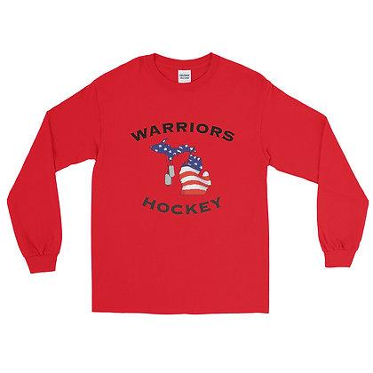 Michigan Warriors Hockey Long Sleeve Shirt