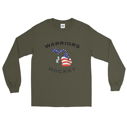 Michigan Warriors Hockey Long Sleeve Shirt
