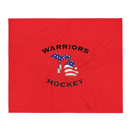 Michigan Warriors Hockey Throw Blanket