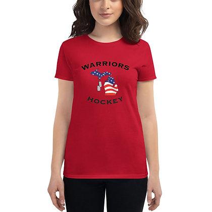 Michigan Warriors Hockey Women's T-Shirt